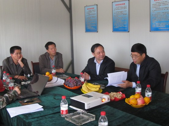 The leadership of Jinchang government has recently inspect Jinchang project site